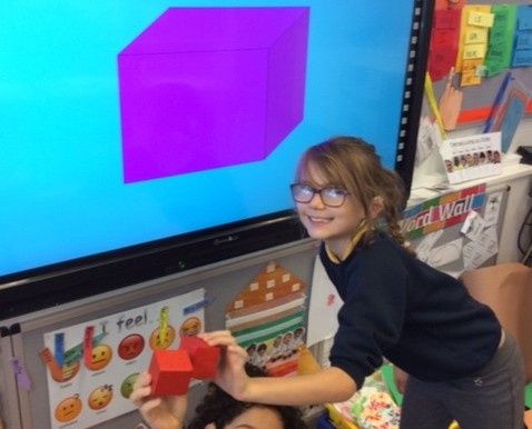 In maths Y3 Flamingos have been learning about 3D shapes and making patterns using shapes.