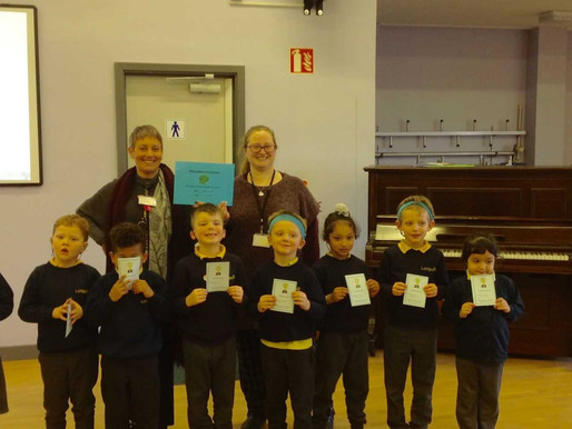 Y1 (Buttercups) were this week's attendance winners . Well done!
