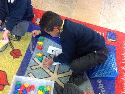 This week in Maths, we have started learning about 'doubling'. We have been using objects to