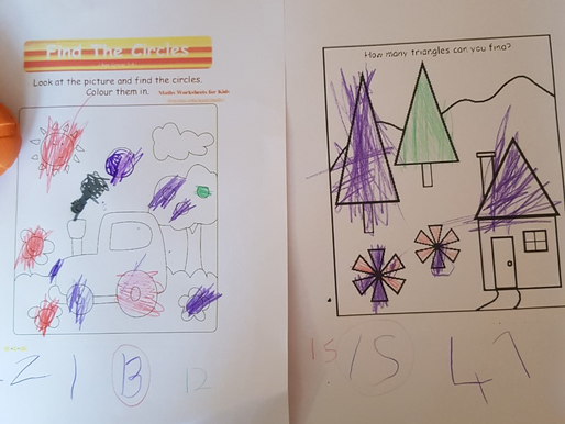 Some lovely Home Learning about shape from a Foundation Pupil...