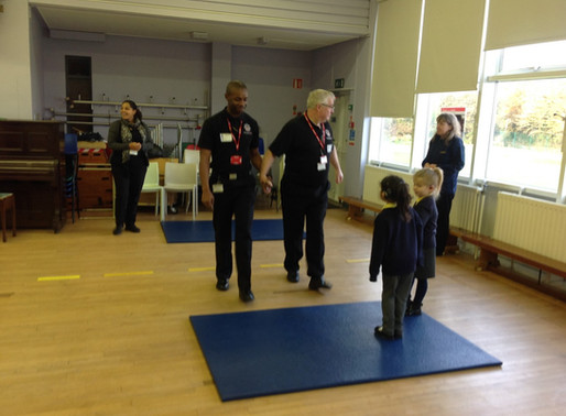 As part of 'Road Safety Week', the whole school took part in road safety workshops today.