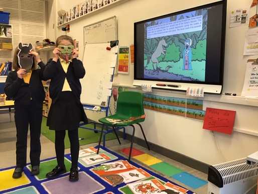 Year 2 Sweet peas have been learning the story of the Chinese Signs of the Zodiac. We acted out the