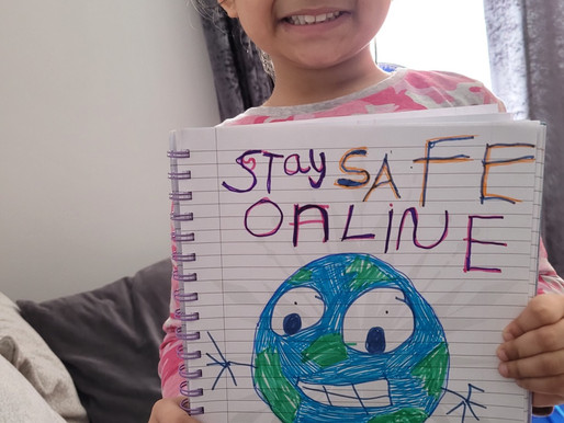 A pupil in Dolphins class has made a great e-safety poster..