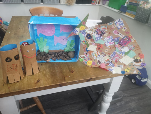 Some lovely home learning completed...