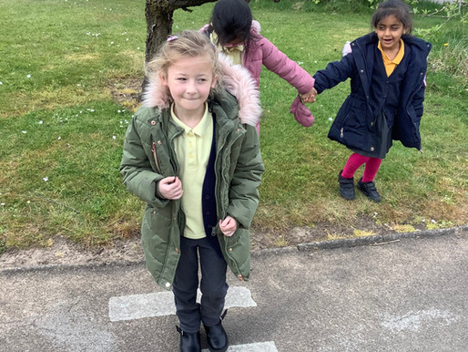 Year 1 (Dolphins) have been learning how to cross the road as part of road safety week.