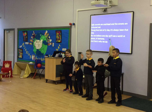 Snapdragon Class (Y4) led an assembly about 'World Peace' Day, which is Friday 21st September. We le