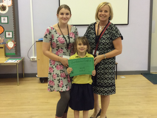 Here are three of our award winners for behaviour, sports and academic achievement. Congratulations!