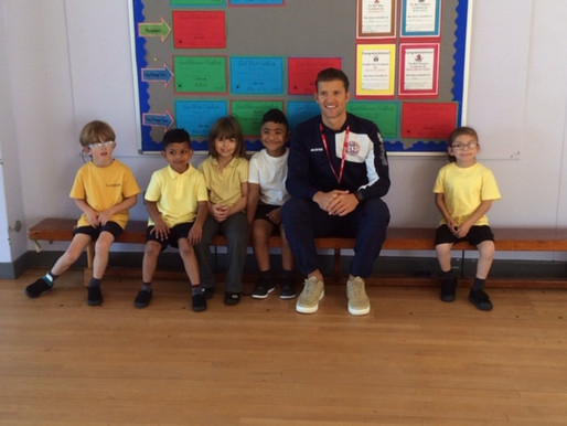 Here are some pictures from our visit from the deaf England team footballer, Jamie Clarke.  Everyone