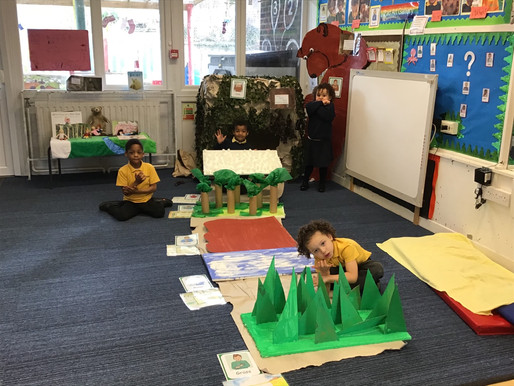 Foundation Bears have been reading the story of 'We're going on a bear hunt'.