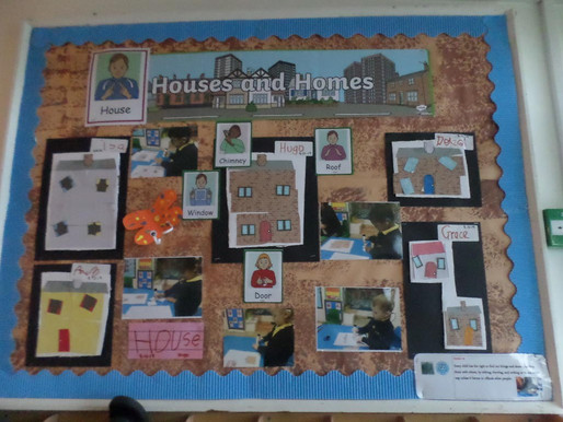 Foundation pupils (Swans) have been busy creating some lovely displays...
