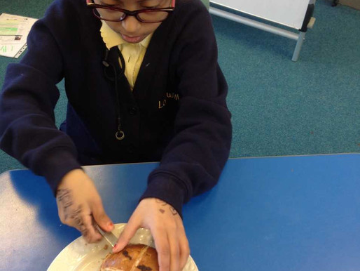 Y3 (Freesia Class) have been learning all about Easter and enjoying some delicious hot cross buns!