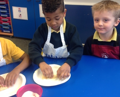 We had a lovely morning yesterday making pancakes for Shrove Tuesday. We worked together to mix the
