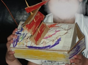 A great effort to make a boat by a Year 4 pupil.