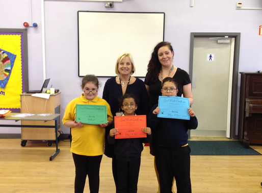 Last week, we celebrated our half termly achievement awards.