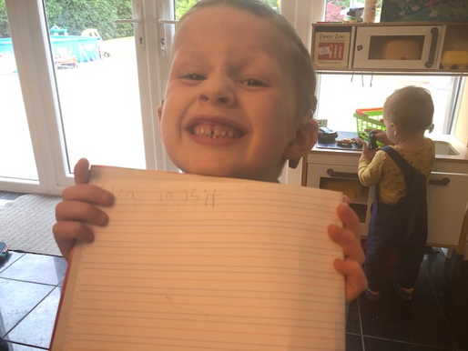 A lovely achievement for this pupil in Foundation this week. He got all of his spellings correct!