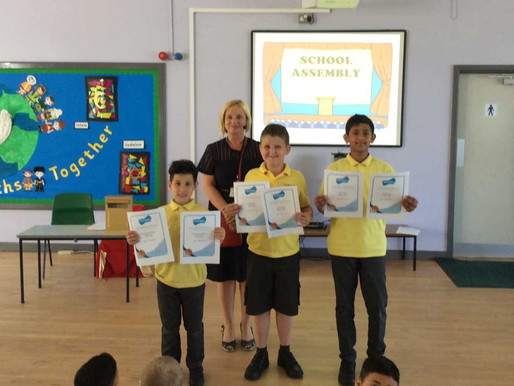 Congratulations to our three pupils who received Bronze Awards today for Mathletics