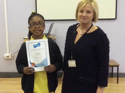 One of our Year 6 pupils achieved 1000 points on Mathletics last week.