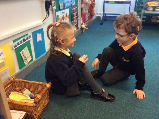Year 1 (Dolphin Class) have been role playing how to be a good friend for friendship week.