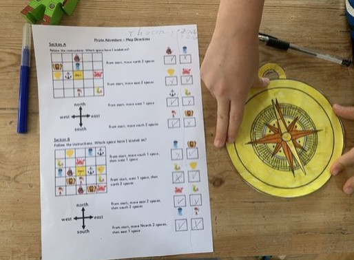 Pupils in Puffin class have been busy making their own compasses as part of their Geography lesson.