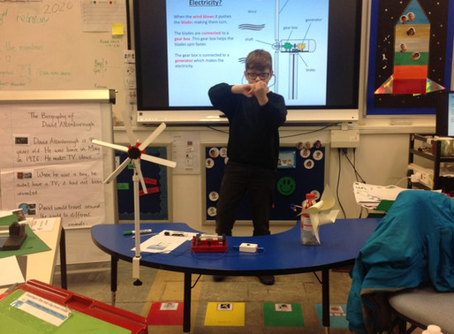 In geography, Toucan Class (Y5) have been learning about the benefits of renewable energy