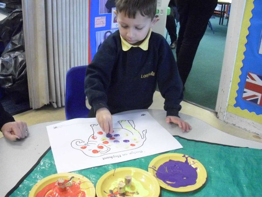 Foundation (Lilies class) have really enjoyed learning about the festival of Holi and creating some
