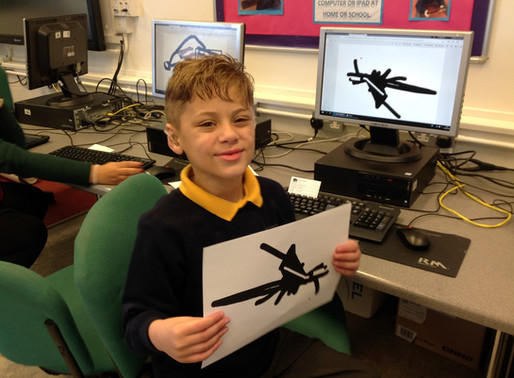 Y2 (Badger Class) made pictures of Badgers on the computer and learnt to save them to the system.