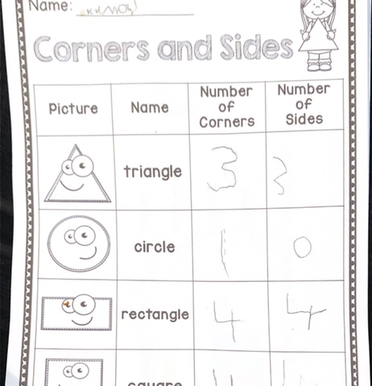 Some lovely Maths and English work completed by this EYFS pupil.