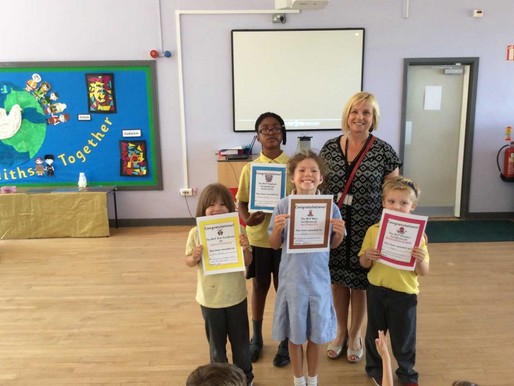 School staff elected these four pupils to receive Building Learning Power awards. They have demonstr