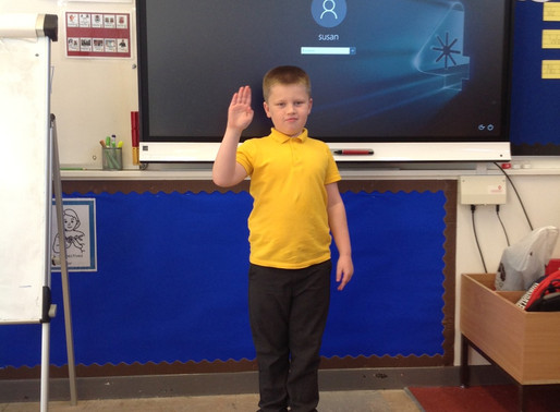 Y5 are learning American Sign Language (ASL)