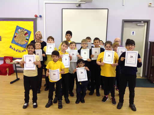 We all celebrated the effort and determination shown by our pupils.