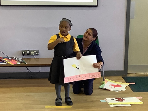 Early Year pupils displayed such confidence as they presented their assembly to the whole school!