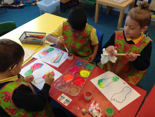 Y1 Hummingbird's class assembly was about Diwali.