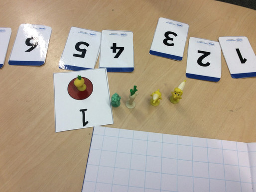The children in Monkeys have been using little figures to help them count up to ten !