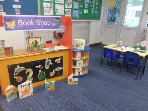 Foundation Swans have really enjoyed our role play going to the book shop and cafe