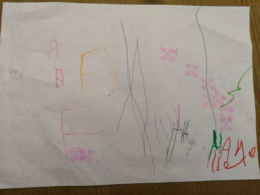 Some lovely writing and drawing from this pupil in Foundation. She has been working very hard!