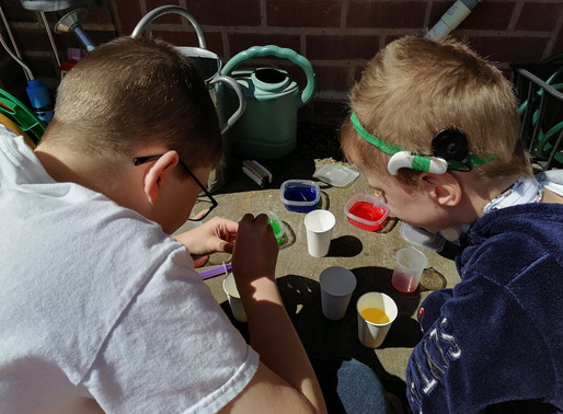 This pupil in Robin class has been very busy at home with his brother, making things..