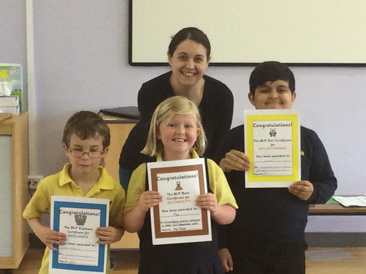 We celebrate pupils' skills, attitudes and ability for learning throughout the year and make fou