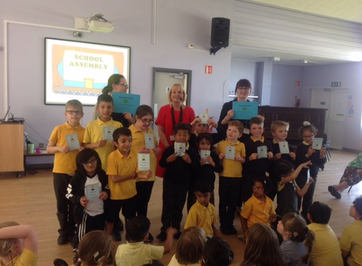 Two classes received congratulatory certificates for their 100% attendance last week.
