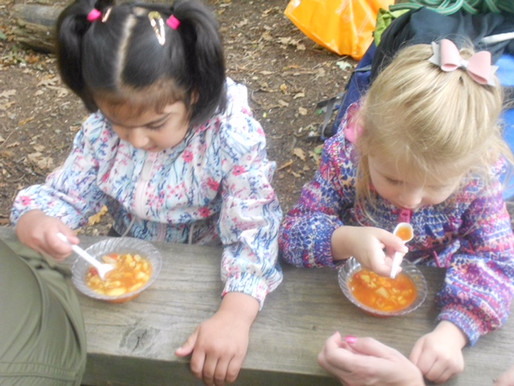 Foundation pupils really enjoyed making soup during their forest school session today!