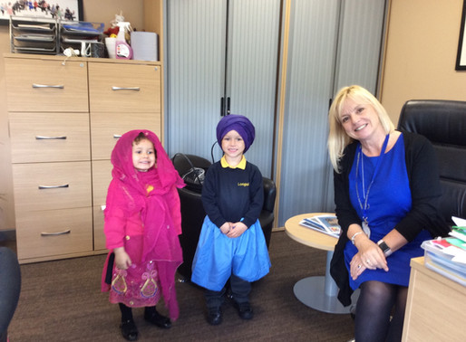 The children in Foundation have been learning about Sikhism and trying on some Sikh clothing.
