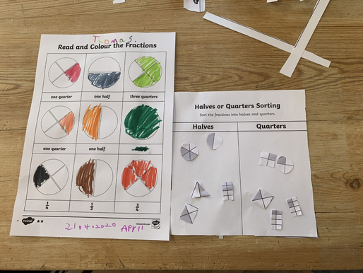 Some pupils in Year 2 have been doing some lovely measuring, Fractions and Division work...