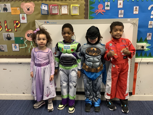 The children in Bears Class enjoyed dressing up for World Book Day today.