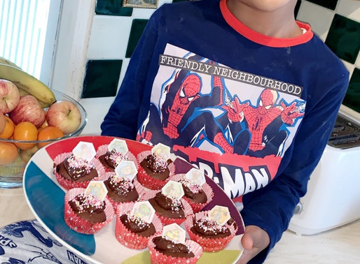 This pupil in Flamingos has been busy baking cakes. They look delicious!