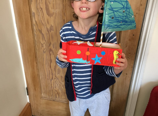 This pupil in Flamingo class has been busy making a boat out of plastic bottles and boxes.Wow!