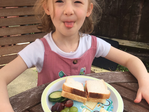 This pupil in foundation has been very busy baking and making her own lunch !
