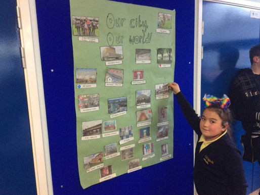Sycamore Class attended a Global Learning Day at Baskerville School. We met up with other special sc