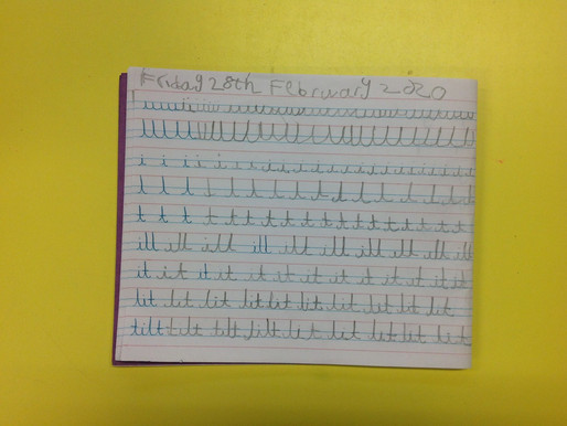Year 2 Puffins have been learning to join up their writing...