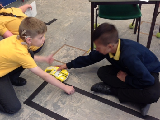 Year 4 have been learning about how to programme technology using algorithms. They programmed the ca