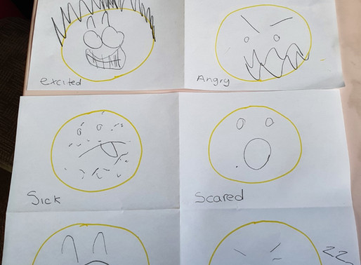As part of their PSHE lessons, Puffin class have been discussing different feelings.