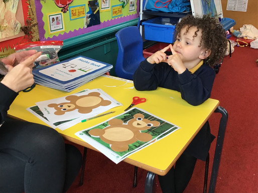 "Early Years pupils (Bear Class) have loved the story, "" We're Going on a Bear Hunt""!"